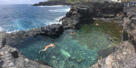 Natuur zwembad op de Canarische Eilanden
