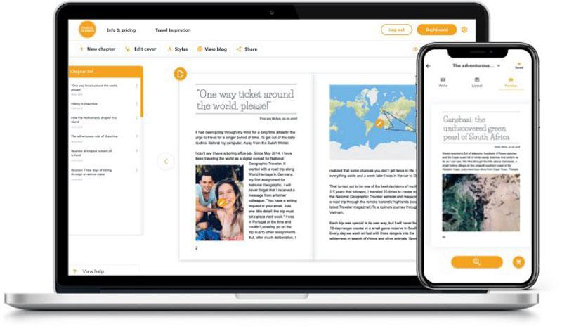 Online reisboek maken