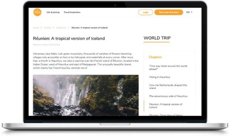 Online reisboek maken blog